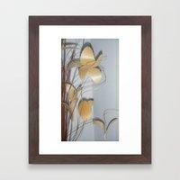 Paper flowers Framed Art Print