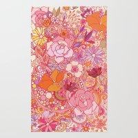 Detailed summer floral pattern Rug