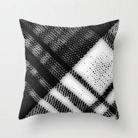 Grey Plaid Throw Pillow