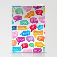 HELLO - CIAO - HOLA Stationery Cards