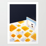 Art Print featuring Rectangle Of Light by Jaclyn Tan