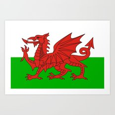 wales country flag united kingdom  Art Print