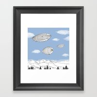 Airships Framed Art Print