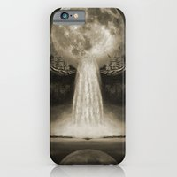iPhone & iPod Case featuring Waterfall Moon Sepia by vin zzep