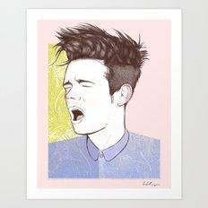 Nate Ruess Art Print