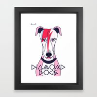 Diamonds Dogs Framed Art Print