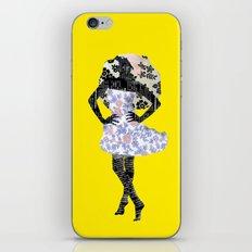 Paris Girl in Summer Plum Flower Pattern  iPhone & iPod Skin