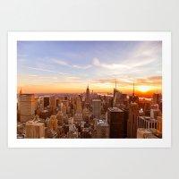 New York City Sunset - Midtown Art Print