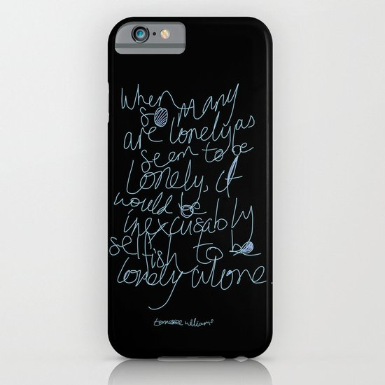 To be lonely alone iPhone & iPod Case