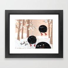 Mr. Furry Pants Framed Art Print