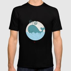 I {❤} Whale Black Mens Fitted Tee SMALL