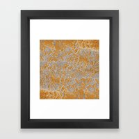 Natural embroidery Framed Art Print