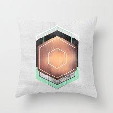 Hexagon Abstract #1 Throw Pillow