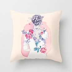 Undress me Throw Pillow