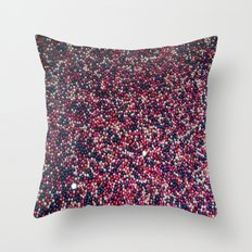 Blue, Pink, Silver Throw Pillow