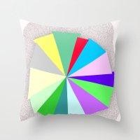 Color Bars Throw Pillow
