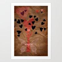 Little tree of love Art Print