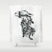 Poetic Llama  Shower Curtain