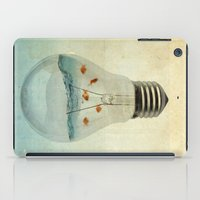blue sea thinking iPad Case