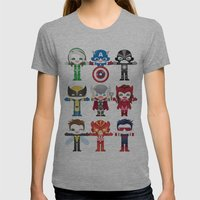 'UNCANNY AVENGERS' ROBOTICS Womens Fitted Tee Athletic Grey SMALL