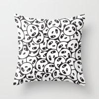 Pandamonium (Patterns Please Series #2) Throw Pillow