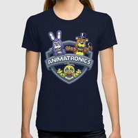 Animatronic Maniacs Womens Fitted Tee Navy SMALL