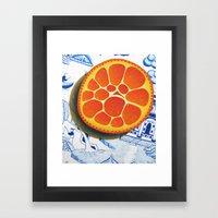 Orange On Plate Made Whe… Framed Art Print