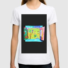 WiNDOW ViEW Womens Fitted Tee Ash Grey SMALL