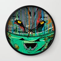 Wolf Mother - Screen Print Edition  Wall Clock