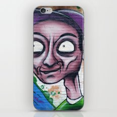 Purple, blue and green graffiti iPhone & iPod Skin