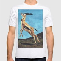 Gazelle Mens Fitted Tee Ash Grey SMALL