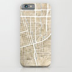 Boulder Colorado Watercolor Map iPhone 6s Slim Case