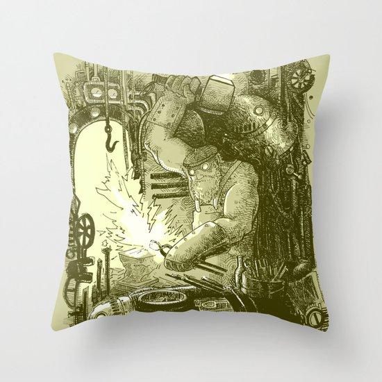Doombots Throw Pillow