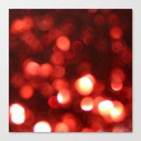 Red Blurred Lights Canvas Print