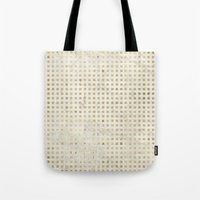 gOld squares Tote Bag