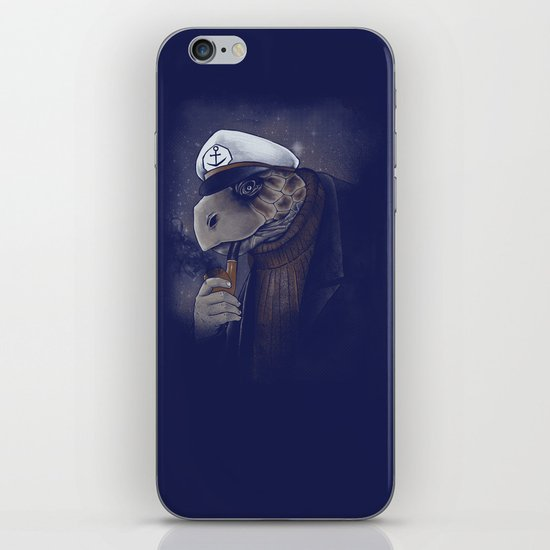 Turtlenecked Sea Captain iPhone & iPod Skin