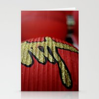 Red Chinese Lanterns Stationery Cards