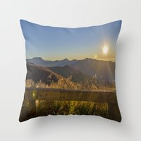 Sunrise On The Blue Ridg… Throw Pillow