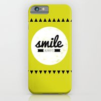 iPhone & iPod Case featuring Smile Always by Pinkrain