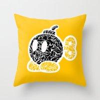 Bob Omb #CrackedOutBadGu… Throw Pillow