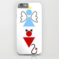 iPhone & iPod Case featuring Dengel (Angel + Devil) by Mendelsign