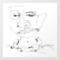 Th boy Art Print