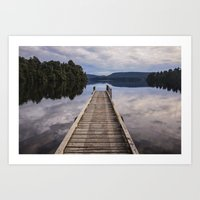 Mapourika Lake Art Print