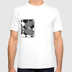 Checkmate Mens Fitted Tee SMALL White