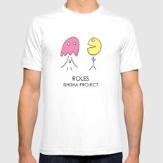ROLES by ISHISHA PROJECT Mens Fitted Tee White SMALL