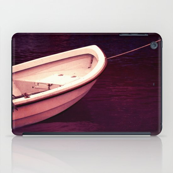 white boat iPad Case