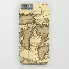 Great Lakes Map - 1737 iPhone 6s Slim Case