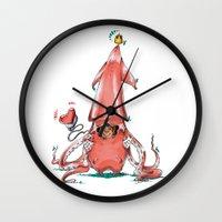 Calamar Prince Wall Clock