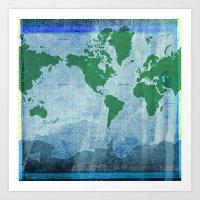 Mercator World Map Art Print