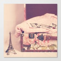 Canvas Print featuring Eiffel Love by Mandy_faith
